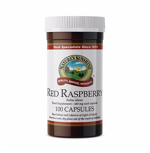 Nature's Sunshine - Red Raspberry - (100 Capsules) - Bottle