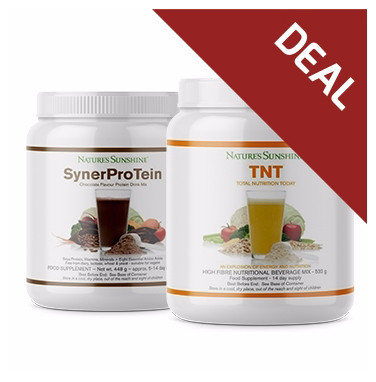 Nature's Sunshine - SynerProTein - Chocolate (448g), TNT (532g) & Power Shaker DEAL!