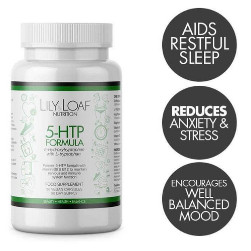 Lily & Loaf - 5 HTP with L-Tryptophan (90 Vegan Capsules) - Bottle