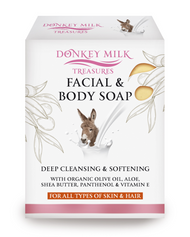 Donkey Milk Treasures - Face and Body Soap with Organic Olive Oil (100g)