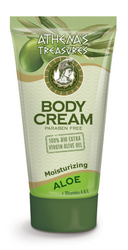 Athena's Treasures Body Cream Aloe + Vitamins A & E (150ml)