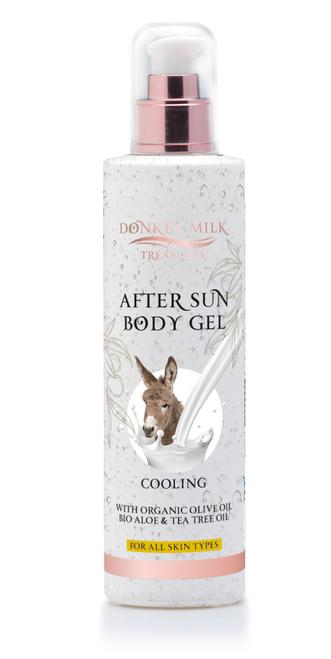Donkey Milk Treasures - After Sun Body Gel Olive Oil & Aloe & Tea Tree (250ml)