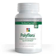 Polyflora AB - Pre/Probiotic for Blood Type AB (120 Vegetarian Capsules) - Container
