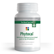Phytocal AB - Multi-mineral for Blood Type AB (120 Vegetarian Capsules) - Container