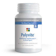 Polyvite A - Multi-vitamin for Blood Type A (120 Vegetarian Capsules)