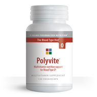 Polyvite O - Multi-vitamin for Blood Type O (120 Vegetarian Capsules) - Container