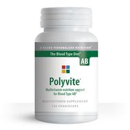 Polyvite AB - Multi-vitamin for Blood Type AB (120 Vegetarian Capsules) - Container