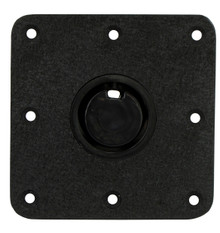 "Plug-In 2-3/8"" Floor Base 7"" X 7"" Black Krinkle"