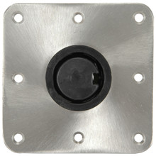 "Plug-In 7"" X 7"" Floor Base S/S Polished"