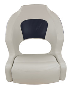 Deluxe Sport Bucket Seat Off White & Navy