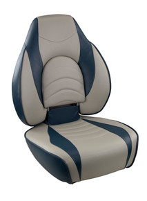 Fish Pro I Fold Down Seat Navy & Gray
