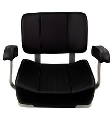 Deluxe Captain's Chair with Armrest Black