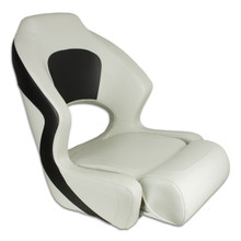 Deluxe Sport Flip Up / Lean To Seat  Off White & Charcoal