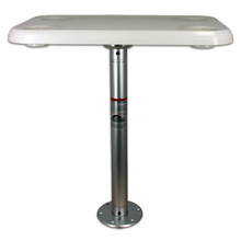 Stowable Table Package with Rectangular Table Top