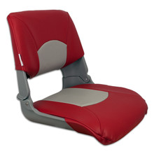 Skipper Fold Down Chair with Cushions Red & Gray