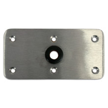 "Kingpin 4"" X 8"" Floor Base Stainless Steel"