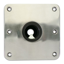 "Spring-Lock Locking Floor Base 7"" X 7"" S/S Passivated"