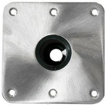 "Spring-Lock 7"" X 7"" Locking Floor Base S/S Satin"