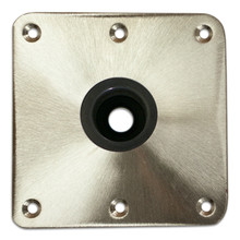 Spring-Lock Stainless Steel Satin Floor Base