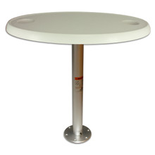 Stowable Table Package with Oval Table Top