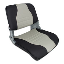 Skipper Fold Down Deluxe Chair with Cushions Charcoal & Gray