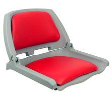 Traveler Fold Down Seat Gray with Red Cushions