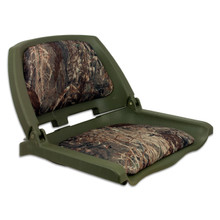 Traveler Fold Down Seat Green with Mossy Oak Duck Blind Cushions