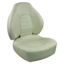 Fish Pro 100 Fold Down LB Seat Off White