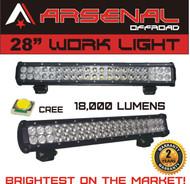 "#1 28"" Dual Row High Power 180w Cree SMD LED Light Bar by Arsenal OffroadTM Off Road Polaris RZR UTV Raptor Jeep Rock Light"