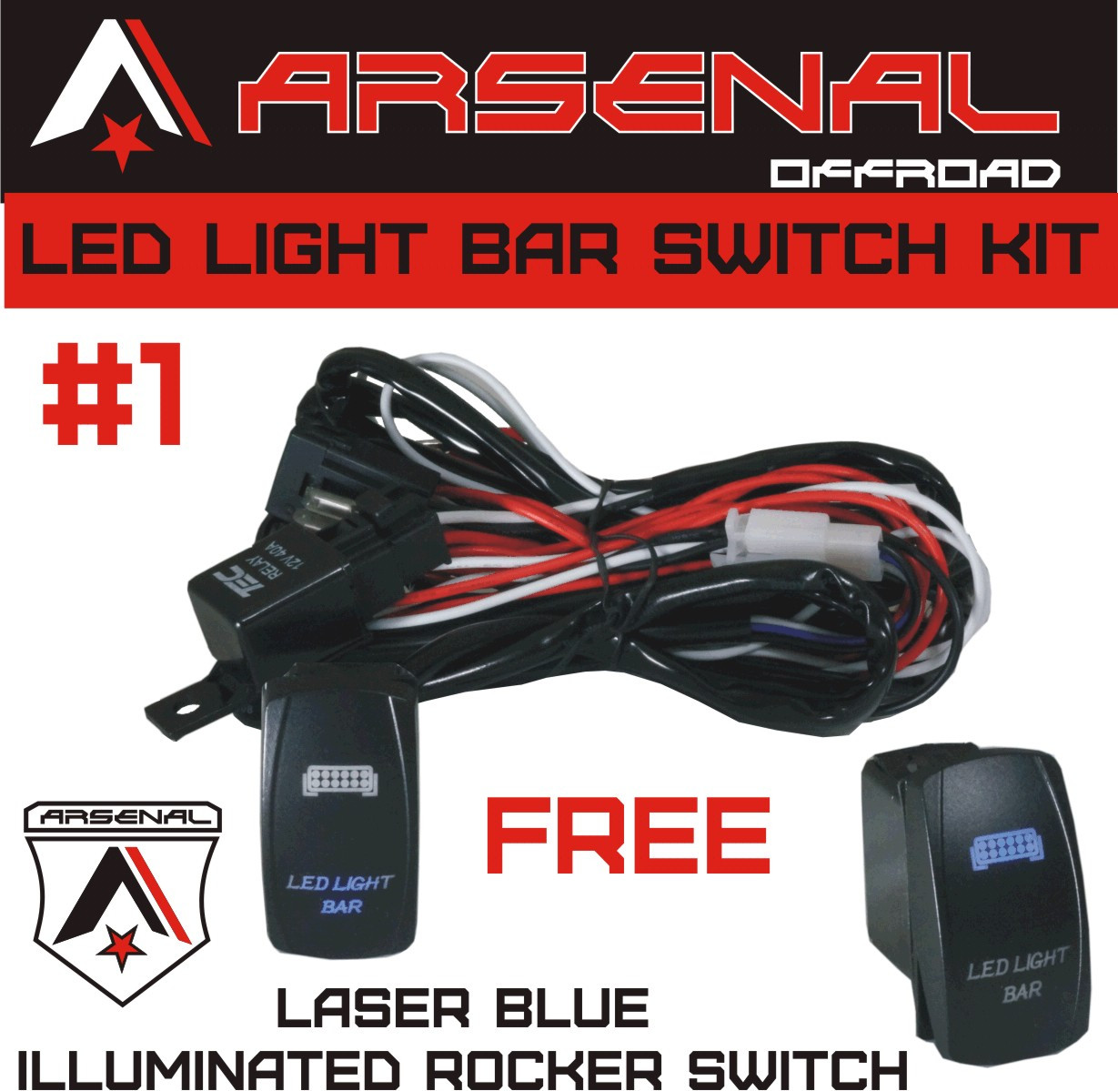 ARSENAL_FREE_LED_LIGHT_BAR_SWITCH_Harness2__23851.1468349542.1280.1280?c=2 arsenal offroad tm 40 amp relay 30amp fuse laser blue led light bar