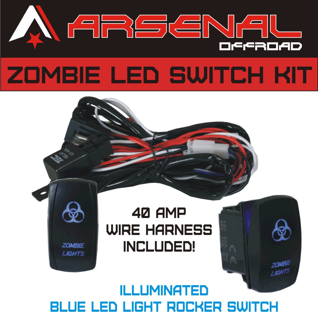 Zombie Rocker Switch Kit By Arsenal Offroad Tm 40 Amp Relay 30amp Spst Round Switches Relays Image 1