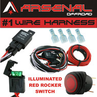 accessories wire harness arsenaloffroad  1 40 universal wiring harness es with 40 relay illuminated on off