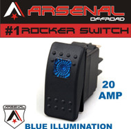 Arsenal Offroad 20 Amp Blue Light Rocker Switch Kit 4X4 Jeep Polaris RZR Rapator Trucks RV UTV Powersports