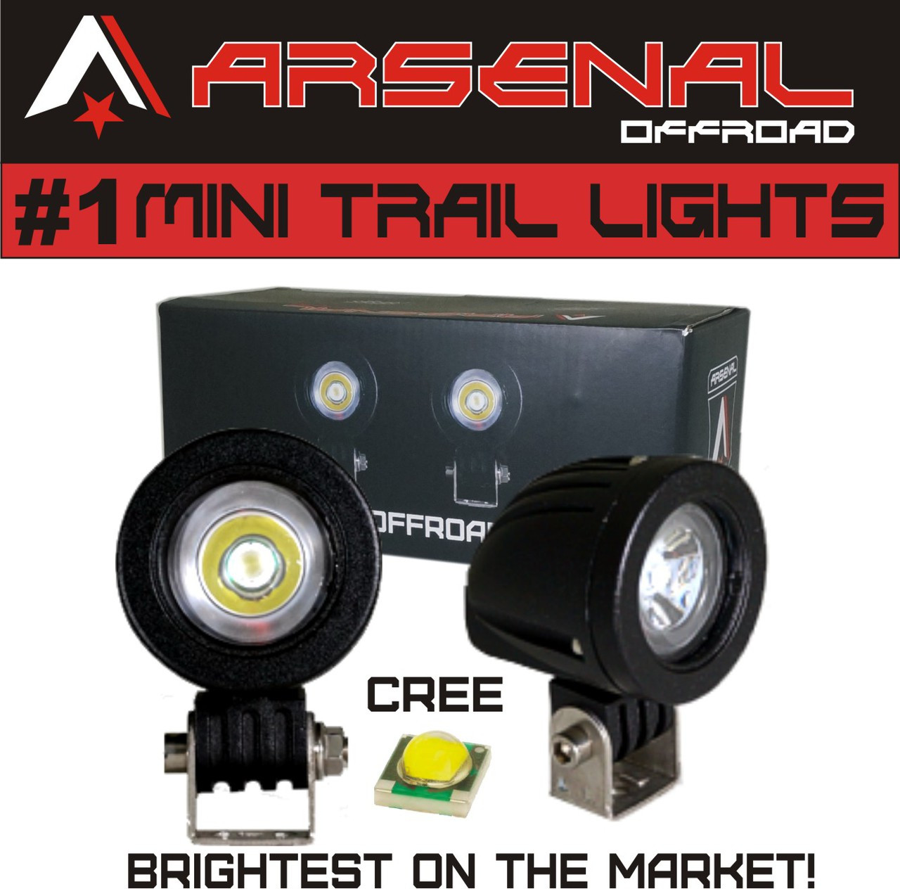 Cree Led Lights >> 1 Mini Trail Lights 2017 Design By Arsenal Offroad 20w Cree Led Spot Motorcycle Offroad Dual Sport Enduro Fog Trail Head Light For Xr Drz Exc Dirt