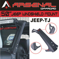 #1 JEEP TJ Arsenal 50-inch LED Light Bar Upper Windshield Mounting Brackets for Jeep: Wrangler TJ 4WD, Wrangler Unlimited TJ 4WD