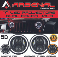 #1 7 Inch Round 60W Cree LED Headlights White Halo Ring Angel Eyes+Amber Turning Signal Lights Jeep Wrangler JK TJ LJ Unlimited Sport Sahara Rubicon Harley Davidson