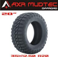 AXR MUDTEC M/T Mud-Terrain Radial Tires - 35x12.5R20 RED LOGO