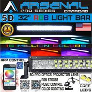 "22/"" 280W CREE LED Light Bar Spot DRL Flood Masks Offroad For Jeep JK Ford F-150"