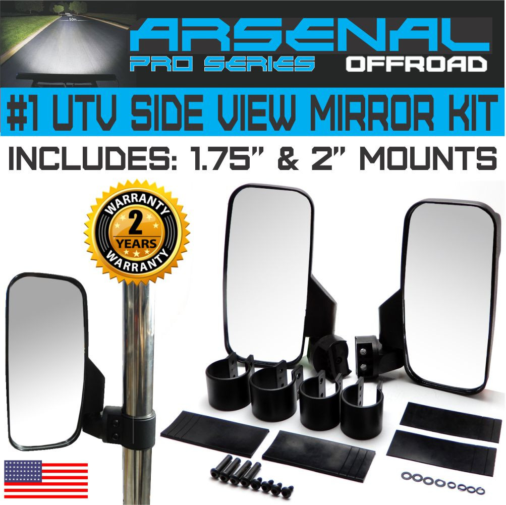 No1 Offroad Rear View Side Mirror Utv Kit For 175 2 Roll Cage