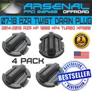 No.1 Twist Polaris floor Rocker Panel Drain Plug RZR XP900 XP1000 XP4 TURBO (4 Pack)