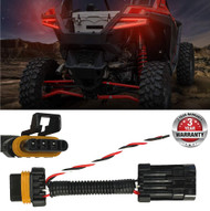 2015-2020 Polaris RZR Tail Light Power Harness (1-PACK) for Whip/Brake Light/License Plate Light Fits: POLARIS 2015-2020 RZR 1000 900 XP 4 TURBO Best on the Market!