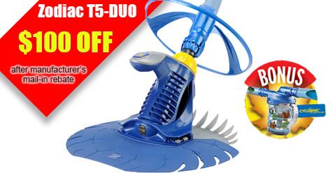 Zodiac T5 Duo Rebate