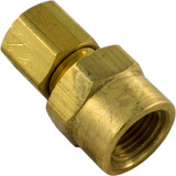 """Compression Fitting, 1/8"""" x 3/16"""" Tube, Brass"""