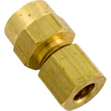 """Compression Fitting, 1/8"""" x 1/4"""" Tube, Brass"""