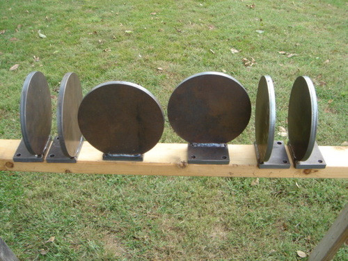 "USA MADE!! AR500 Steel Target Gong 8/"" x 1//4/"" Double Hole NRA Action Plate IDPA"