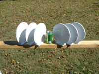 "NRA 6"" Action Steel Knockover Plates - 6 Plates - Free Shipping"