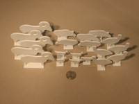 """IHMSA NRA 1/8"""" Thick Silhouette Steel Target White Set 1/10 Scale"""