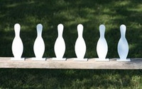 "8"" Bowling Pin K'Over - 6 Pc. Set 3/8"" Thick Regular Steel - Free Shipping"