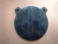 AR500 Gong Target - Strong Large Ear - 8 Inch Diameter 3/8 Inch Thick Armour Steel Plate Unpainted (FREE SHIPPING!)