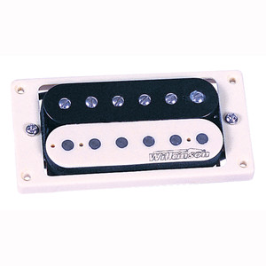 While the original spec for Humbucker bobbins was black, a shortage of these items on the production line in the 1950s resulted in bobbins being sourced in virgin material (ivory coloured plastic), hence when guitarists started to remove their brass covers, they discovered that some guitars contained what have become known as Zebra pickups. Some people believe these are the best sounding double coils ever. Trev just think they look great, and by using the same windings as the WVC pickup, they are as authentic sounding as anything currently available.